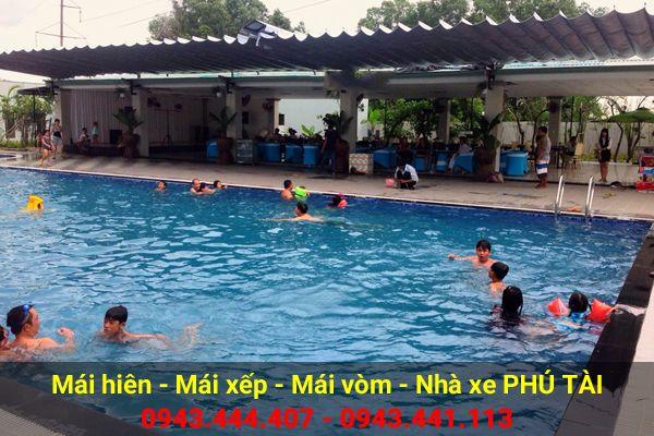 Mái che hồ bơi PT50