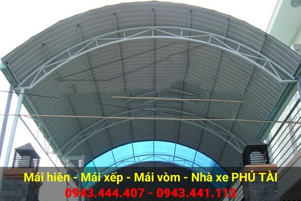 Mái vòm sân thượng PT70