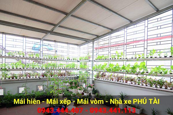 Vòm sân thượng trồng rau PT03