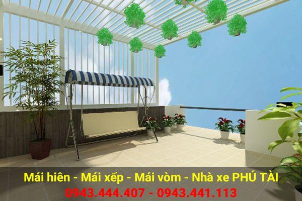 Vòm sân thượng trồng rau PT04